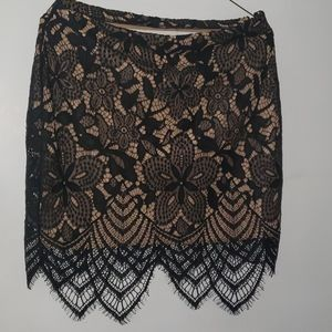 Express lace black skirt-new